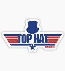 Top Hat (Star-Burns) Sticker