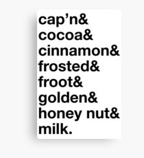 cereal is all we need. Canvas Print
