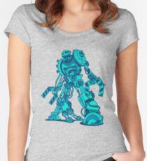Robot Sketch Women's Fitted Scoop T-Shirt