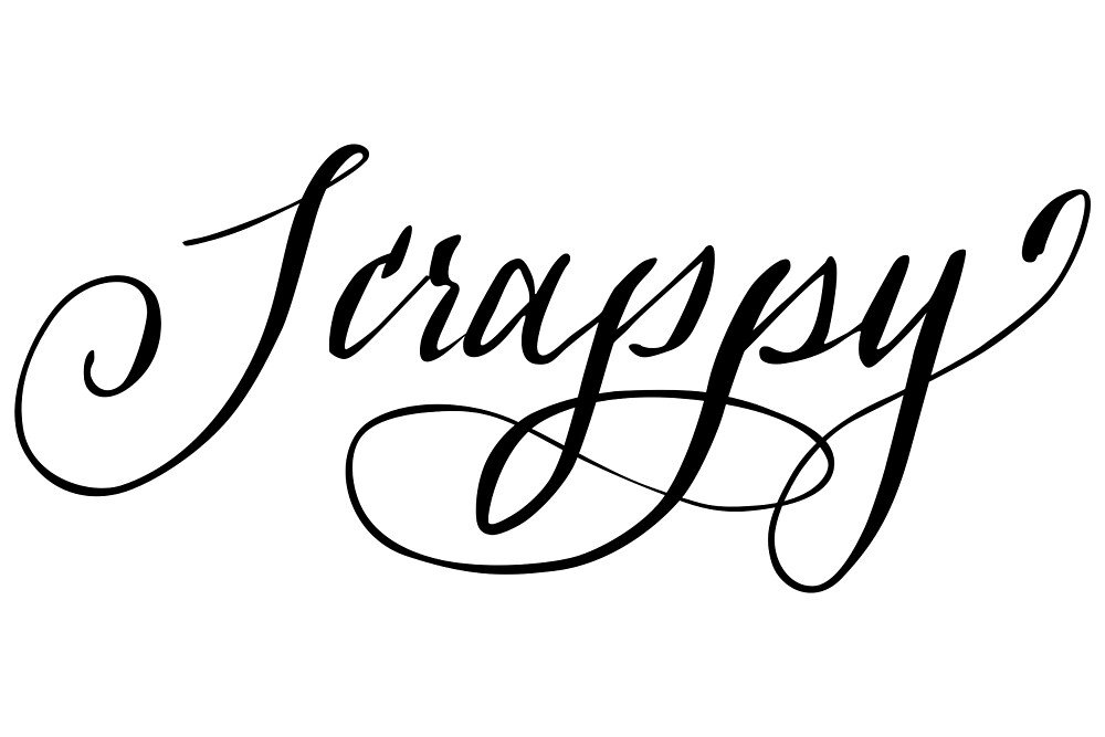 Scrappy hand lettering calligraphy by hellomalcolm