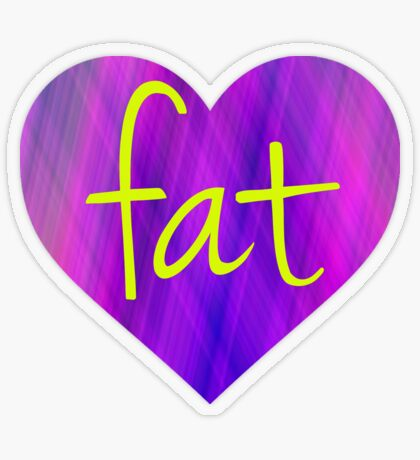 Love Fat (Purple and Yellow) Transparent Sticker