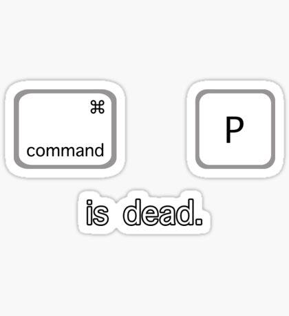 Print is dead.  (Mac version) Sticker