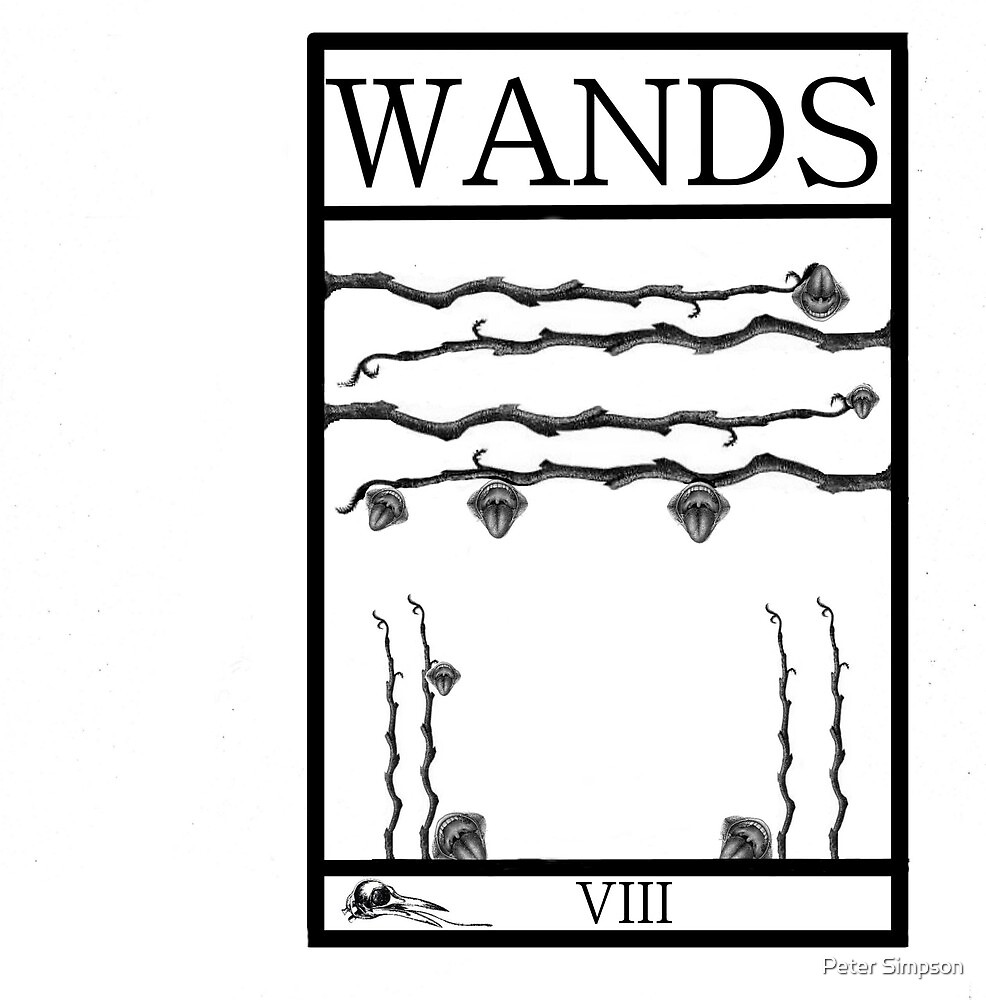 8 of Wands by Peter Simpson