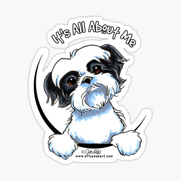 I Heart my Shihpoo decal sticker puppy treat Shih Tzu Poodle mix
