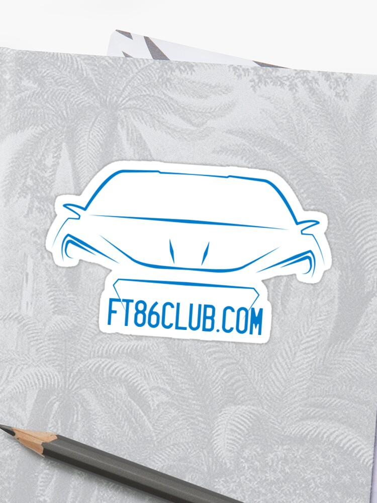 Ft86club Brz Decal In Blue Sticker By Snoopyalien24 Redbubble