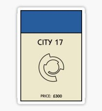 City 17 Monopoly (Half Life 2) Sticker