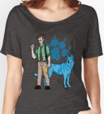 Clues of Blue Redux Women's Relaxed Fit T-Shirt
