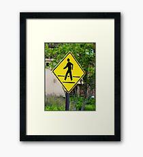 Pedestrian! Framed Print