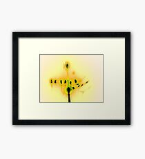 Hanukkah Candles in Yellow Framed Print