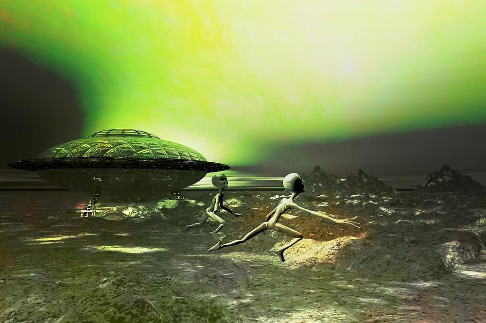 Alien landing by Carol and Mike Werner
