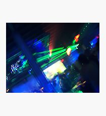 Dancing Lasers Photographic Print