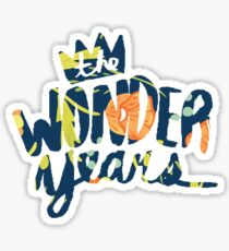 The Wonder Years floral logo  Sticker
