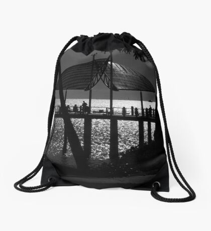The Strand Jetty - Townsville Drawstring Bag