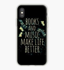 books and music make life better #1 iPhone Case