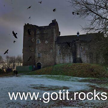 Doune Castle rocks ! by goldyart