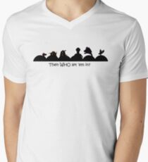 Too many robots in the theater! Men's V-Neck T-Shirt