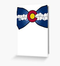 Colorado Bow-Tie Greeting Card