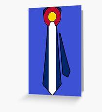 Colorado Flag Tie Greeting Card