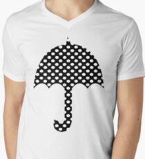 Black And White Polka Dots   Men's V-Neck T-Shirt