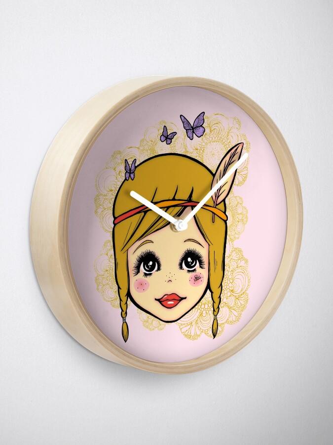 Alternate view of Boho Girl in the Spring Clock