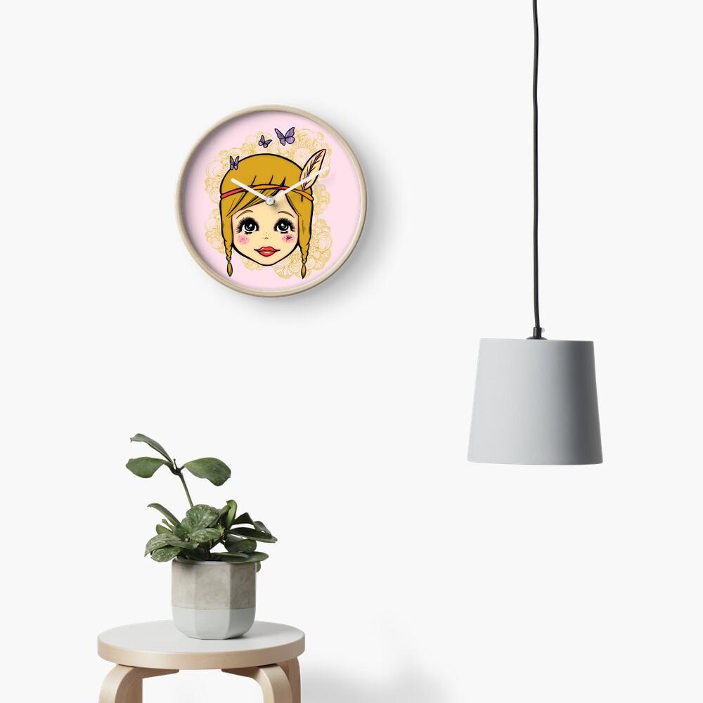 Boho Girl in the Spring Clock
