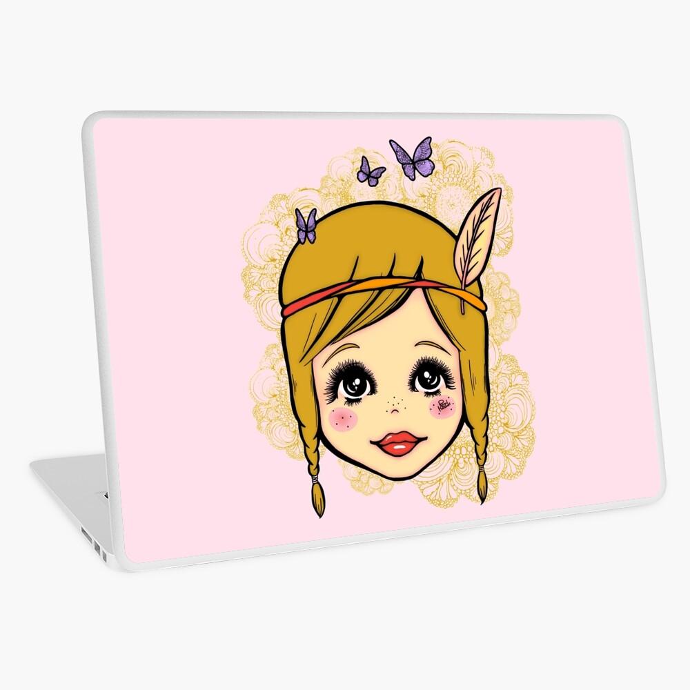 Boho Girl in the Spring Laptop Skin