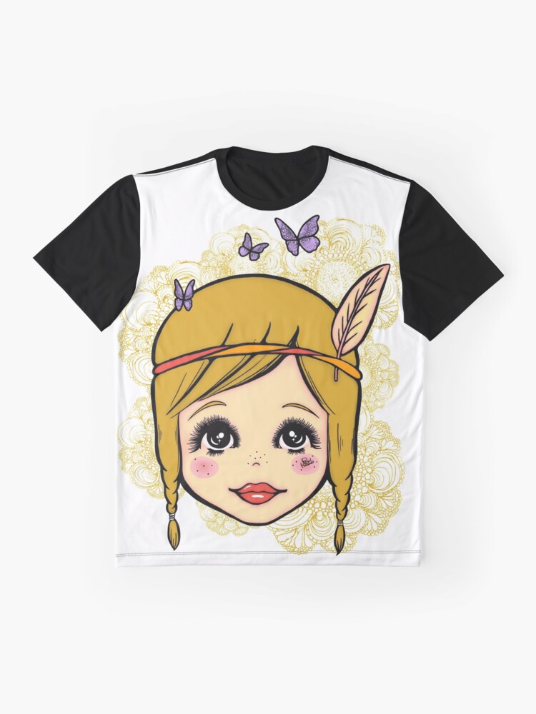 Alternate view of Boho Girl in the Spring Graphic T-Shirt