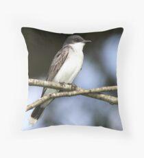 Eastern Kingbird w/flash. Throw Pillow