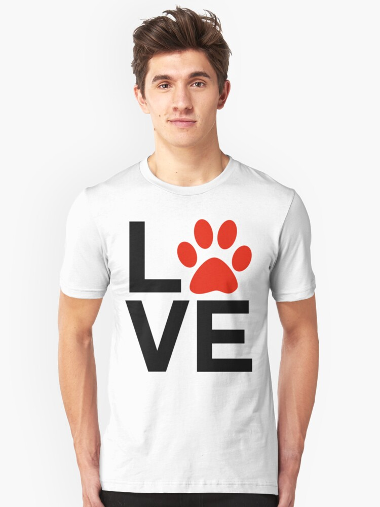 Love Dogs and/or Cats Unisex T-Shirt Front