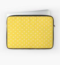 Gelbe & weiße Tupfen Laptoptasche