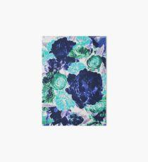 Bouquet in Blue - Floral Art - Flower Lovers Gift Art Board
