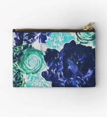 Bouquet in Blue - Floral Art - Flower Lovers Gift Studio Pouch