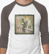Popular Science: Marie Curie (distressed) Men's Baseball ¾ T-Shirt