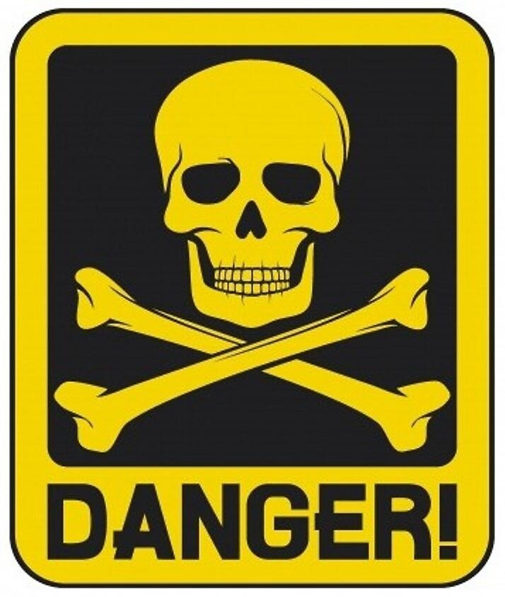 Quot Danger Skull And Crossbones Quot By Phatmikey Redbubble