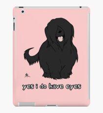 Black Briard - Yes, I have eyes. w/ TEXT iPad Case/Skin