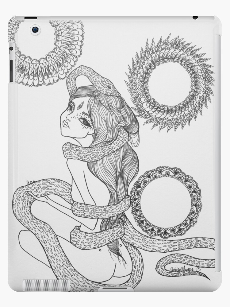 Original Ink Drawing (Coiled) by Christina Martine