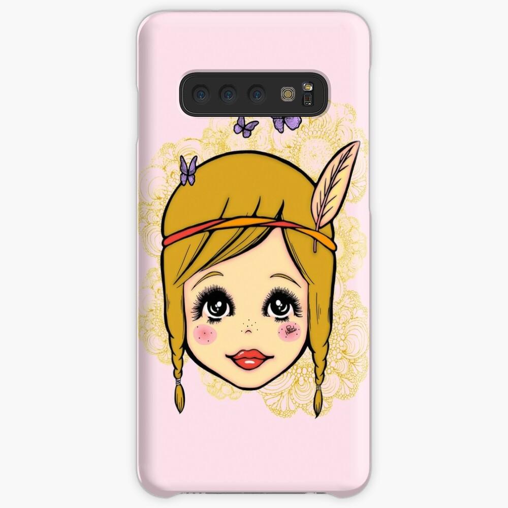 Boho Girl in the Spring Case & Skin for Samsung Galaxy