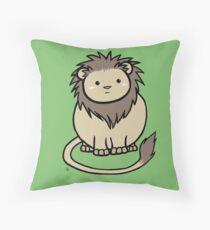 Wildlife Chibi - African Lion Throw Pillow