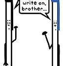 «negro es hermoso. Escribe, hermano.» de paintbydumbers