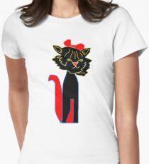 SMUG black CAT  T SHIRT T-Shirt