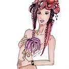 """Courtesy of BP"" Fashion Illustration by Chelsea Easley"
