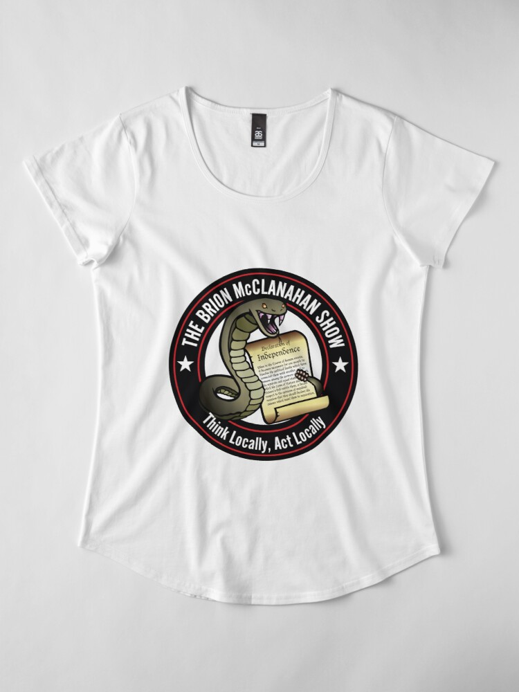 Alternate view of The Brion McClanahan Show Premium Scoop T-Shirt