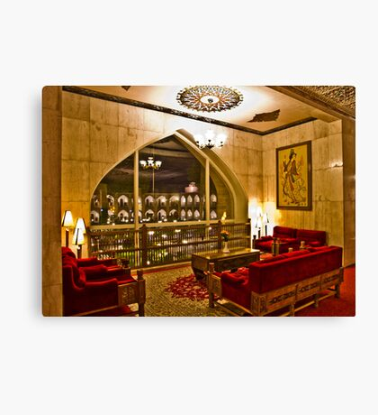 The Amazing Abbasi Hotel - Room With A View - Esfahan - Iran Canvas Print