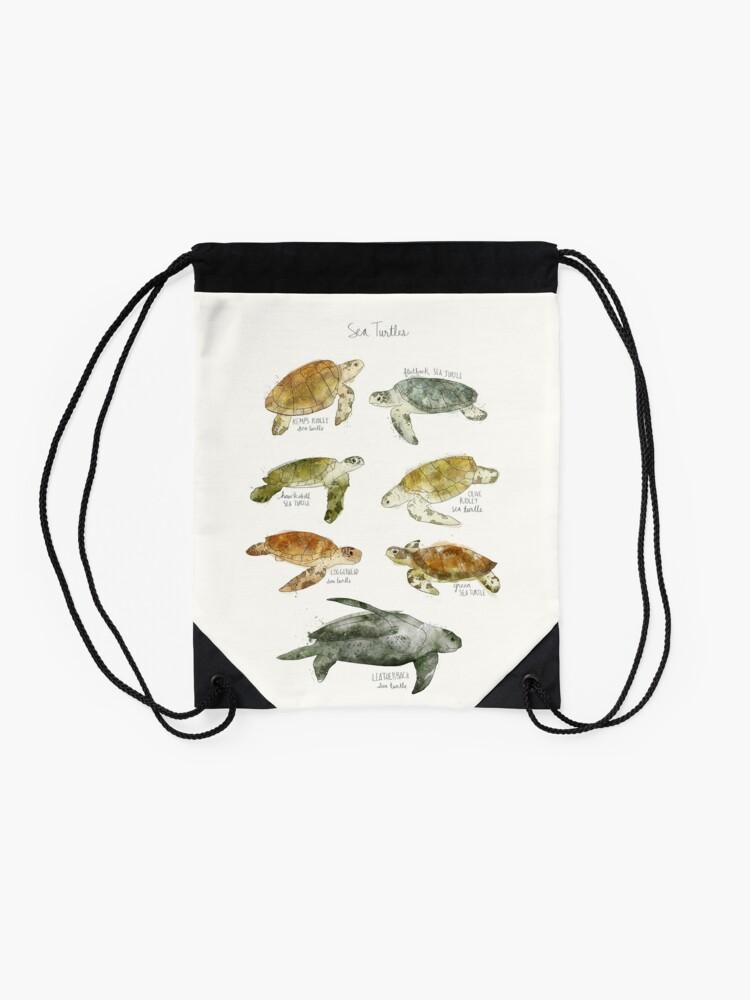 Alternate view of Sea Turtles Drawstring Bag