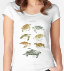 Sea Turtles Fitted Scoop T-Shirt