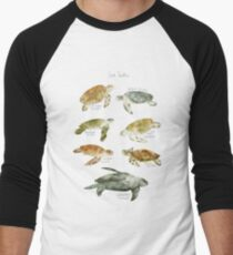Camiseta ¾ bicolor para hombre Tortugas de mar