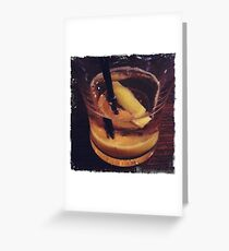iPhone Sour drink Greeting Card