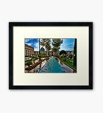 The Amazing Abbasi Hotel - Courtyard Fountains - Esfahan - Iran Framed Print