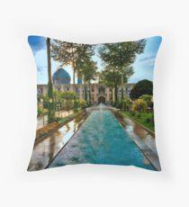 The Amazing Abbasi Hotel - Courtyard Fountains - Esfahan - Iran Throw Pillow