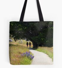 Walking To Castle Hill Tote Bag